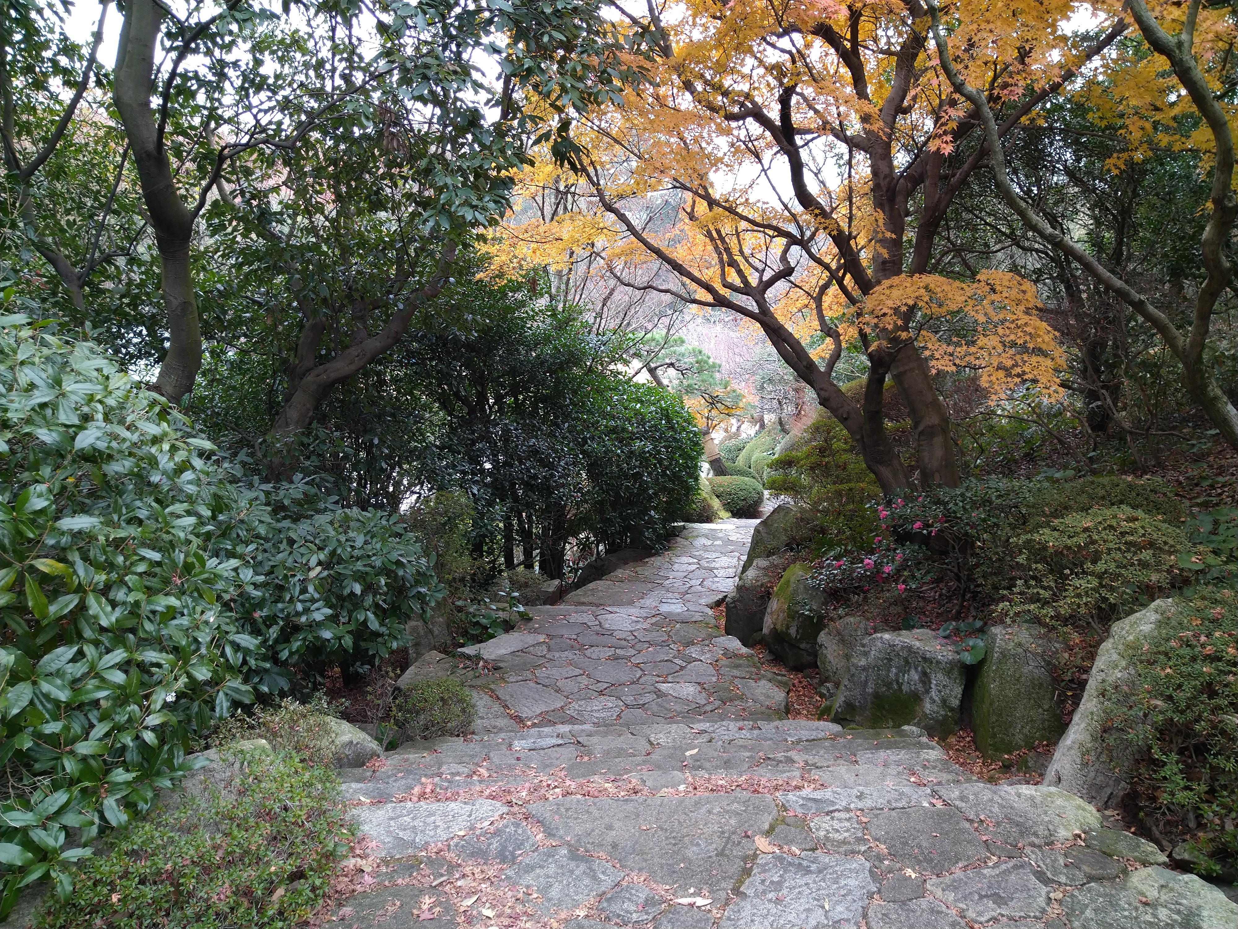 三景園の石段